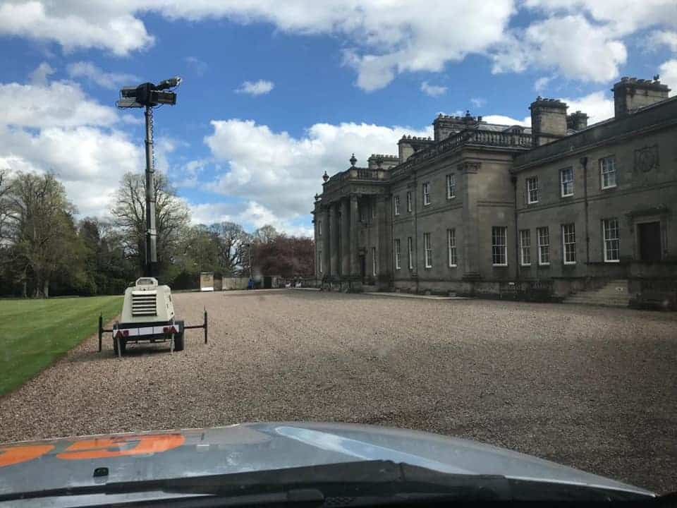 Lighting tower hire outside stately home