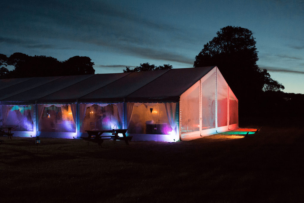 Marquee Lighting hire Scotland at a wedding